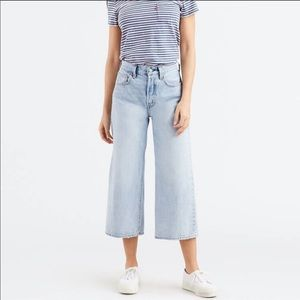 High Water Wide Leg Levi's Jeans